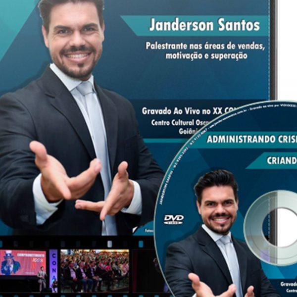 DVD Administrando Crises Criando Oportunidades de Janderson santos
